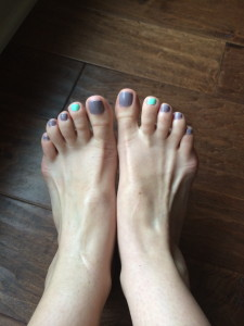 My Spring pedicure