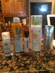 My sunscreen collection